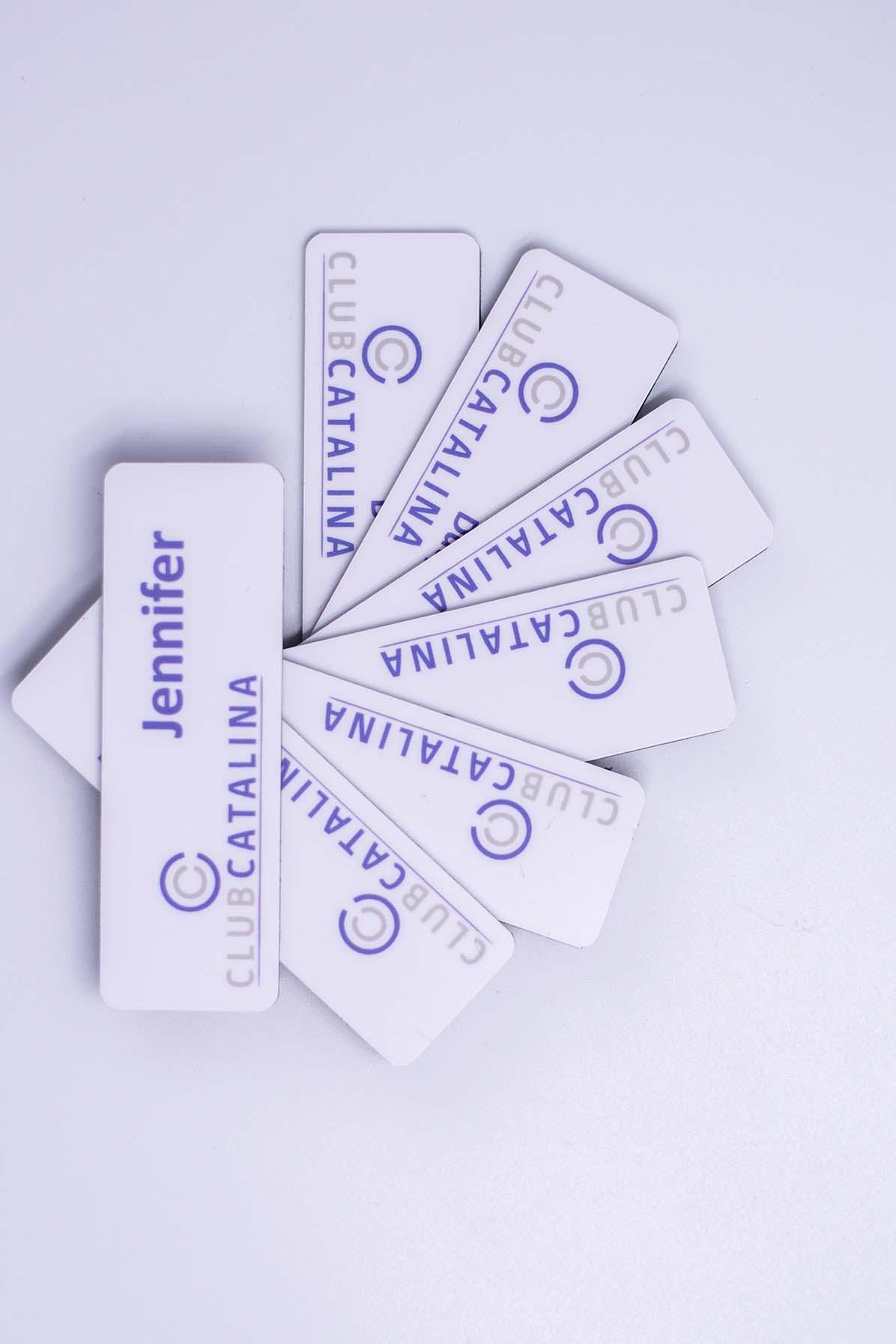 Flat Name Badge