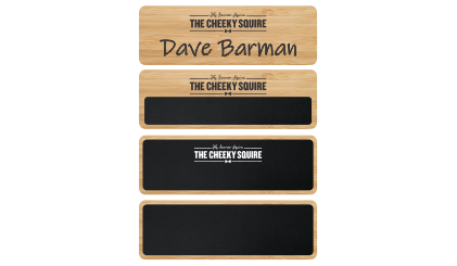 Bamboo Name Badges