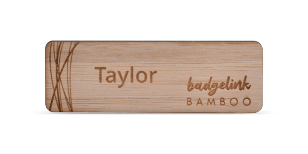 Bamboo Name Badge Engraved