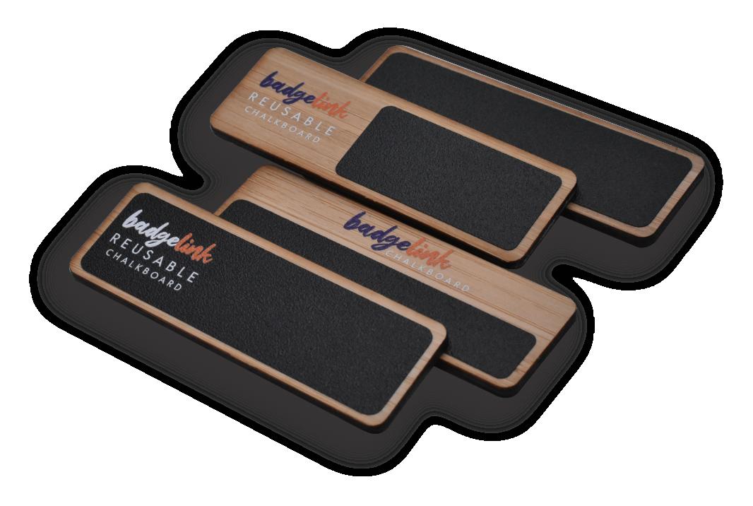 reusable chalkboard badges