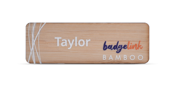 Bamboo Name Badge Printed