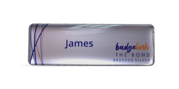 The Bond Name Badges Brushed Silver