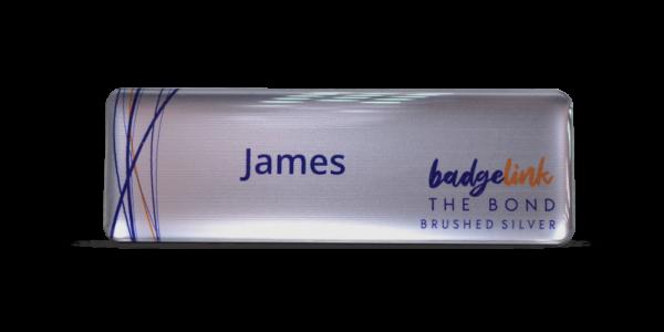 The Bond Name Badges Brushed Silver