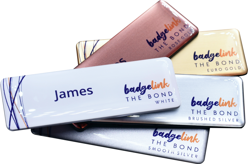 Available in 5 different name badge colours