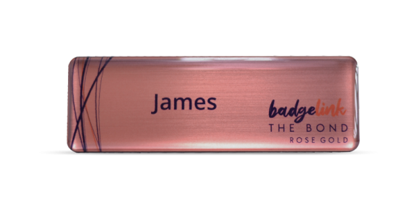 The Bond Name Badges Rose Gold
