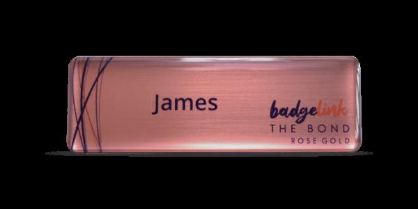 The Bond Name Badges Rose Gold