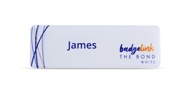 The Bond Name Badges White