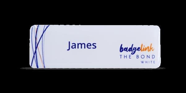 The Bond Name Badges White