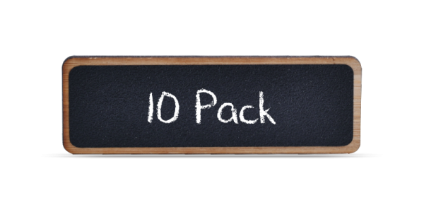 Bamboo Reusable Chalkboard Badges 10 Pack