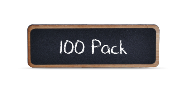 Bamboo Reusable Chalkboard Badges 100 Pack