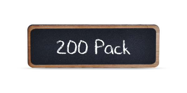 Bamboo Reusable Chalkboard Badges 200 Pack