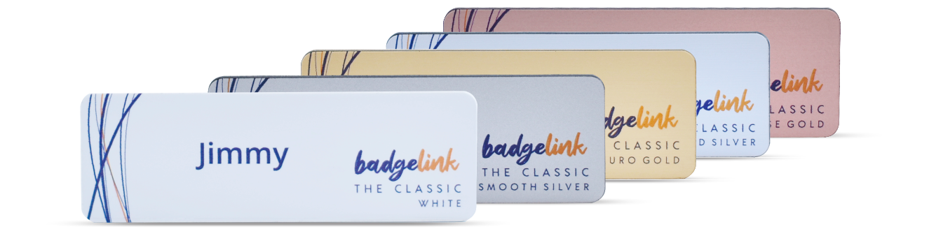 Classic name badges