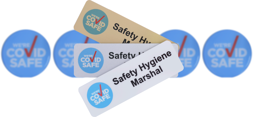 Safety Hygiene Marshal Badges