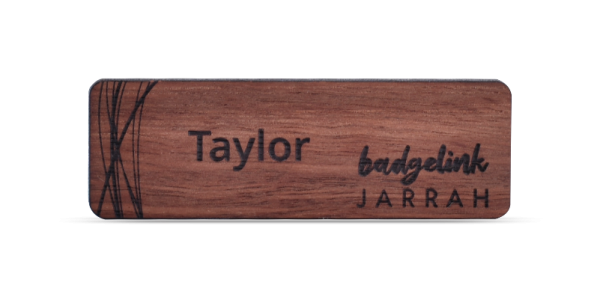 Jarrah Name Badge Engraved