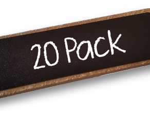 20 pack Chalkboard Reusable Name Badge