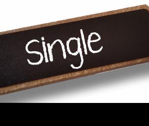 Single Chalkboard Reusable Name Badge