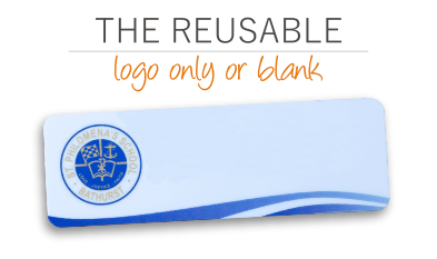 Logo only Reusable Name Badges
