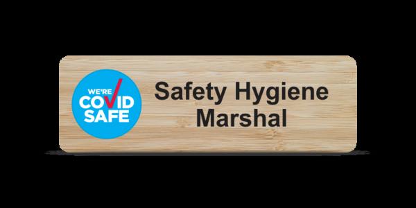Safety Hygiene Marshal Badge - Bamboo