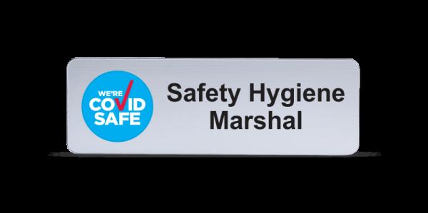 Safety Hygiene Marshal Badge - Brushed Silver