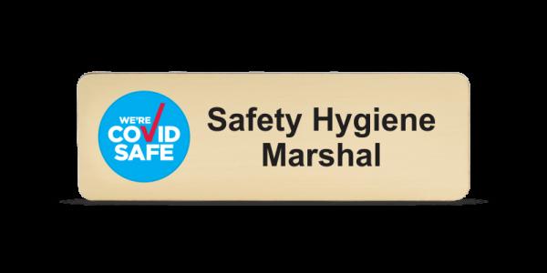 Safety Hygiene Marshal Badge - Euro Gold