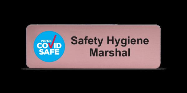 Safety Hygiene Marshal Badge - Rose Gold