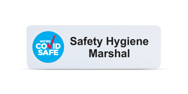 Safety Hygiene Marshal Badge - White