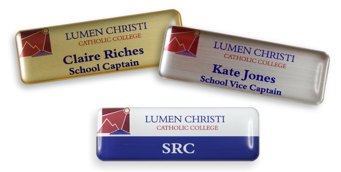 The Student name badges